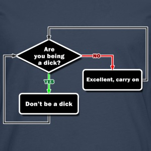 Don't be a dick T-Shirts - Men's Premium Longsleeve Shirt