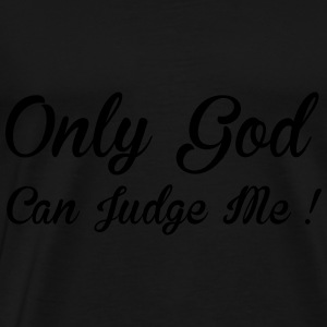 God Can Judge Sweatshirts - Herre premium T-shirt