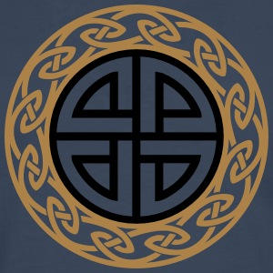 Celtic Shield Knot, Protection, Four Corner, Norse Camisetas - Camiseta de manga larga premium hombre