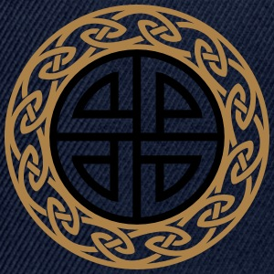 Celtic Shield Knot, Protection, Four Corner, Norse Camisetas - Gorra Snapback