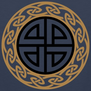 Celtic Shield Knot, Protection, Four Corner, Norse Camisetas - Tank top premium hombre