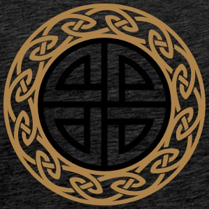 Celtic Shield Knot, Protection, Four Corner, Norse Sweaters - Mannen Premium T-shirt