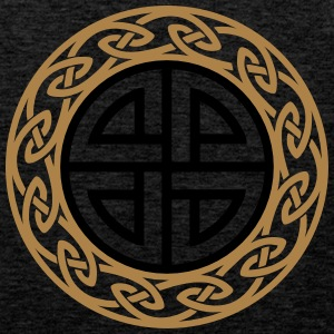 Celtic Shield Knot, Protection, Four Corner, Norse Bluzy - Tank top męski Premium