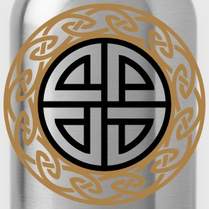 Celtic Shield Knot, Protection, Four Corner, Norse Hoodies & Sweatshirts - Water Bottle