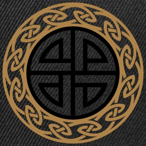Celtic Shield Knot, Protection, Four Corner, Norse Hoodies & Sweatshirts - Snapback Cap