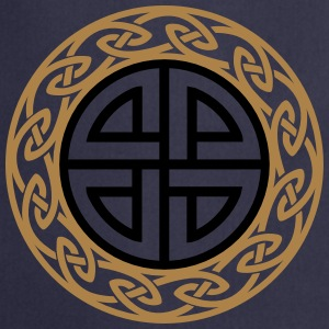 Celtic Shield Knot, Protection, Four Corner, Norse Bluzy - Fartuch kuchenny
