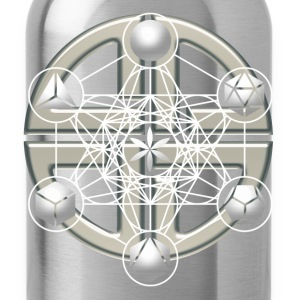 Metatrons Cube, Platonic Solids, Sacred Geometry Gensere - Drikkeflaske