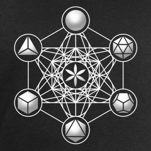 Metatrons Cube, Platonic Solids, Sacred Geometry T-Shirts - Men's Sweatshirt by Stanley & Stella