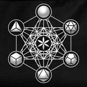 Metatrons Cube, Platonic Solids, Sacred Geometry T-Shirts - Kids' Backpack