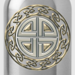 Celtic shield knot, Protection Amulet, Viking Camisetas - Cantimplora