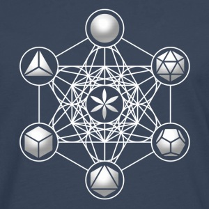Metatrons Cube, Platonic Solids, Sacred Geometry Hoodies & Sweatshirts - Men's Premium Longsleeve Shirt