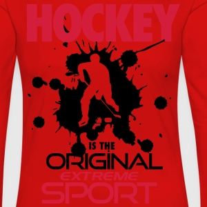 Hockey is the original extreme sport T-skjorter - Premium langermet T-skjorte for kvinner