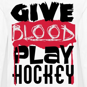 Give Blood, play Hockey T-skjorter - Premium langermet T-skjorte for menn