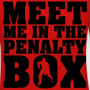 Meet me in the penalty Box T-skjorter - Premium langermet T-skjorte for kvinner