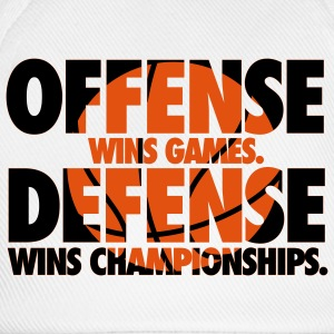 Offense wins games. Defense wins championships T-shirts - Baseballkasket