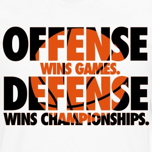 Offense wins games. Defense wins championships T-Shirts - Men's Premium Longsleeve Shirt