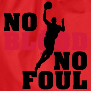 Baskettball: No blood no foul T-Shirts - Turnbeutel