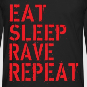 Eat Rave Sleep Tee shirts - T-shirt manches longues Premium Homme