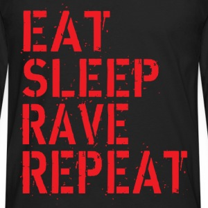 Eat Rave Sleep T-skjorter - Premium langermet T-skjorte for menn
