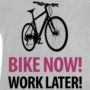 Kindershirt Bike now! Work later! Fahrrad - Baby T-Shirt