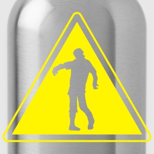 warning_zombies_sign_102013_b_1c T-Shirts - Trinkflasche