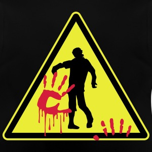 warning_zombies_sign_102013_a_3c T-Shirts - Baby T-Shirt
