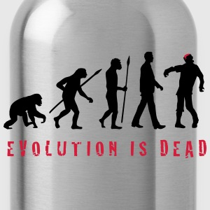 evolution_of_man_zombie_102013_b_2c T-Shirts - Trinkflasche