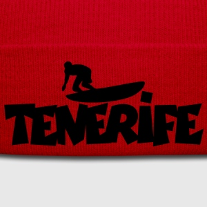 Tenerife Surf T-Shirt (Women/Red) Back - Winter Hat