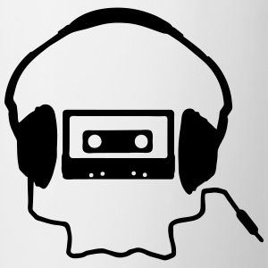 Tape Headphones and a Skull T-skjorter - Kopp