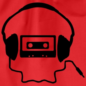 Tape Headphones and a Skull T-shirts - Sportstaske