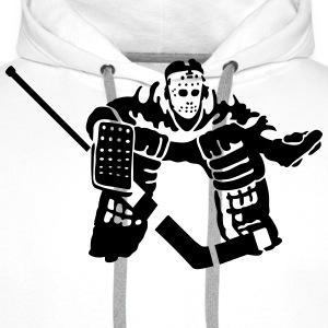 hockey goalkeeper T-Shirts - Men's Premium Hoodie