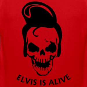 Elvis is alive T-shirts - Mannen Premium tank top