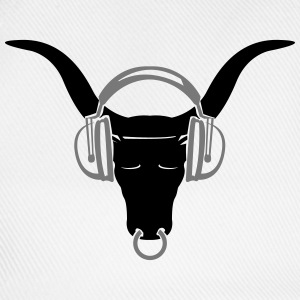 Buffalo head with headphones  T-Shirts - Baseball Cap