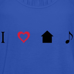 I love House Music Icons Shirt - Frauen Tank Top von Bella