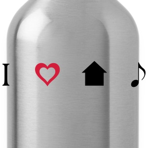 I love House Music Icons Shirt - Trinkflasche