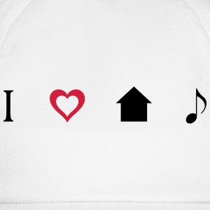 I love House Music Icons T-skjorter - Baseballcap