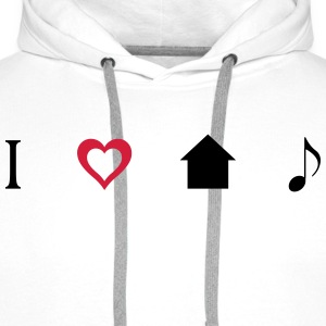 I love House Music Icons T-shirts - Herre Premium hættetrøje