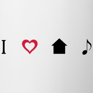 I love House Music Icons T-shirts - Kop/krus