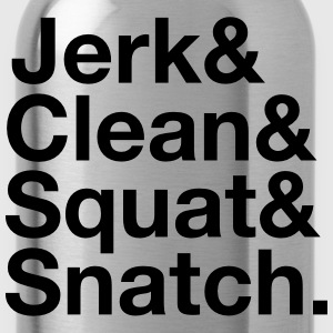 Jerk, Clean, Squat, Snatch Tee shirts - Gourde