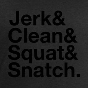 Jerk, Clean, Squat, Snatch T-Shirts - Men's Sweatshirt by Stanley & Stella