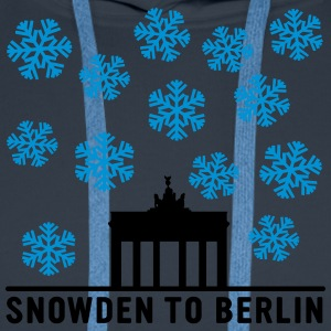 Snowden to Berlin T-Shirts - Men's Premium Hoodie