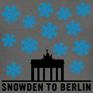 Snowden to Berlin Bags & backpacks - Men's Slim Fit T-Shirt