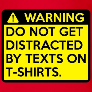 Warning: do not get distracted Shirts - Organic Short-sleeved Baby Bodysuit