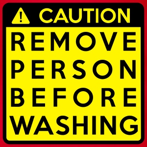 Caution: Remove person before washing Shirts - Baby Bio-Kurzarm-Body