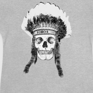skull indian headdress - cráneo Camisetas - Camiseta bebé