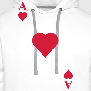 Ace of hearts T-Shirts - Men's Premium Hoodie