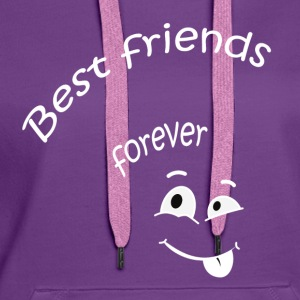 Best friends forever Tee shirts - Sweat-shirt à capuche Premium pour femmes