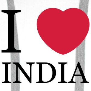 I love India personnalisable - Sweat-shirt à capuche Premium pour hommes