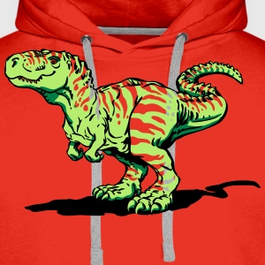 Red Tyrannosaurus rex (3 colors) Shirts - Men's Premium Hoodie