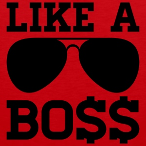 LIKE A BOSS T-Shirts - Männer Premium Tank Top